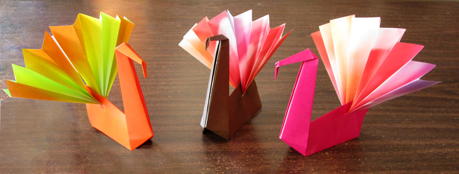 Monthly Feature: Origami Page: The Folded Turkey