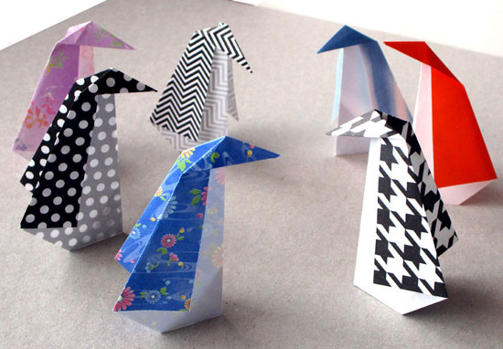 January 2016 Monthly Feature Origami Page Penguin