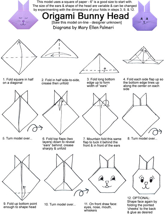 march 2016 monthly feature  origami page  bunny heads
