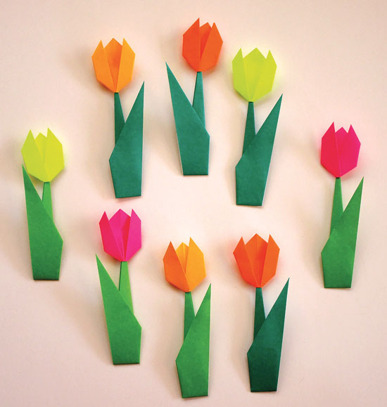 May 2016 monthly feature origami page flat tulip origami mightylinksfo