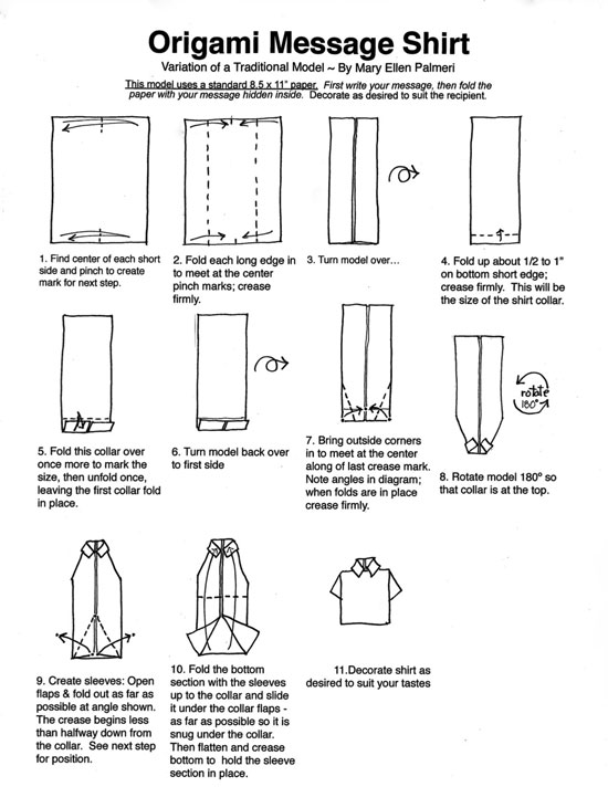Valentine's Day - How to Fold an Origami Heart (Shirt and Tie)   712x550