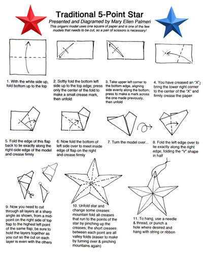 July 2016 Monthly Feature Origami Page Origami Star