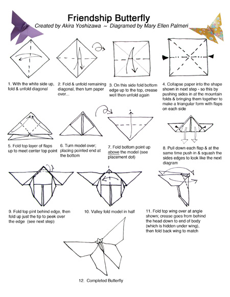 august 2016 monthly feature origami page friendship butterfly rh tucsonhappenings com origami butterfly instructions origami butterfly instructions step by step