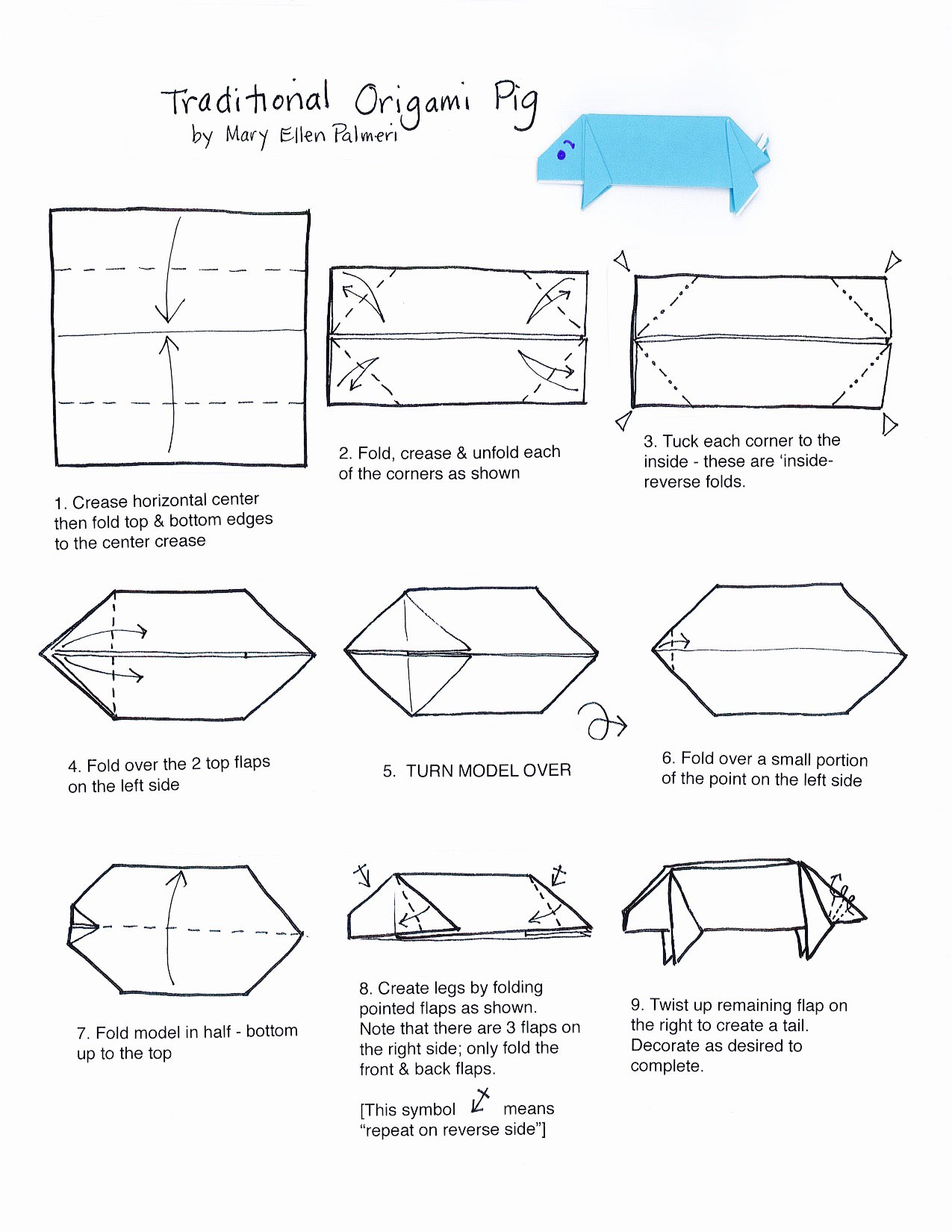November 2016 monthly feature origami page origami pig this origami animal a pig is simple to fold and a good addition to your origami animal collection or to start an animal collection pooptronica