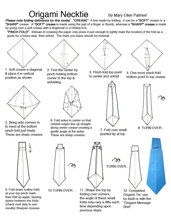 June 2017 monthly feature origami page neck tie origami page ccuart Choice Image