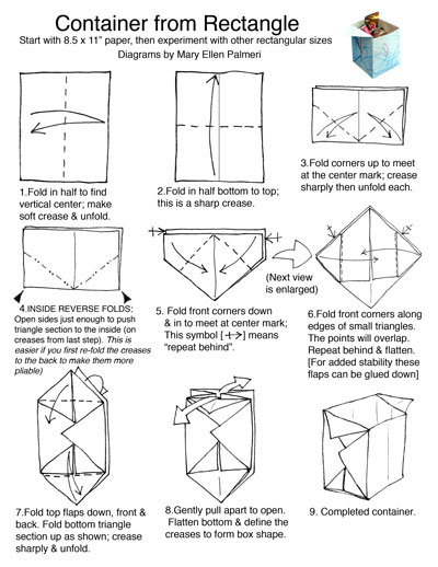 How to make a tall square origami box: page 1 | 518x400