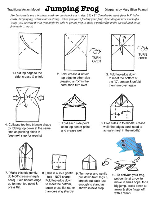 Frog(face) - Easy Origami instructions For Kids | 647x500