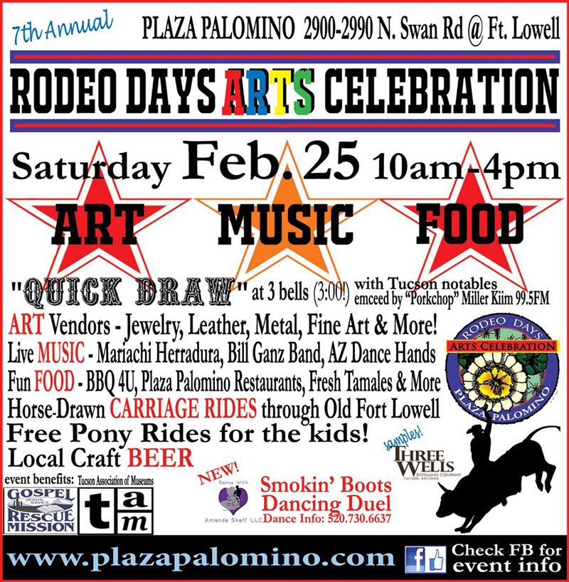 Plaza Palomino Presents The 7th Annual Rodeo Days Arts
